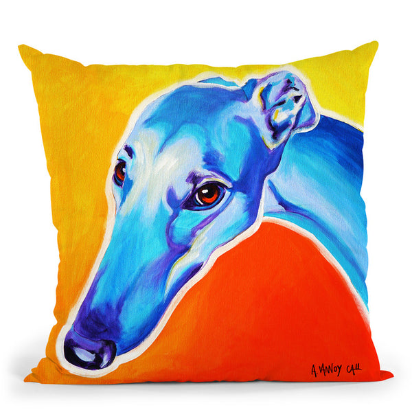 Lizzie Throw Pillow By Dawgart - All About Vibe