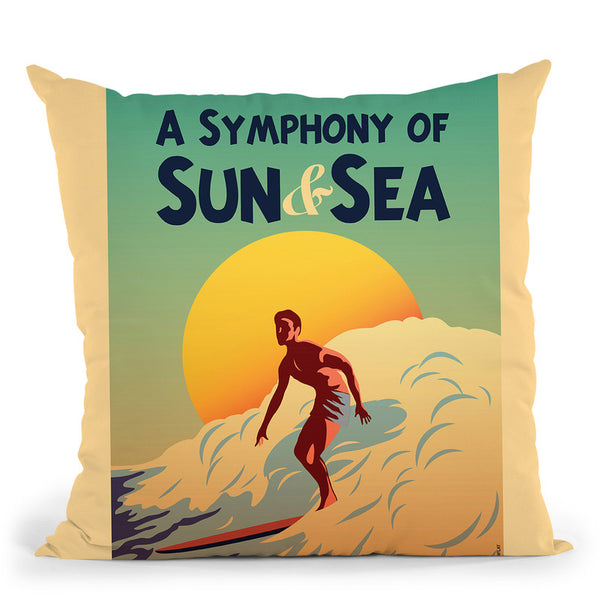 A Symphony Of Sun & Sea Throw Pillow By American Flat - All About Vibe