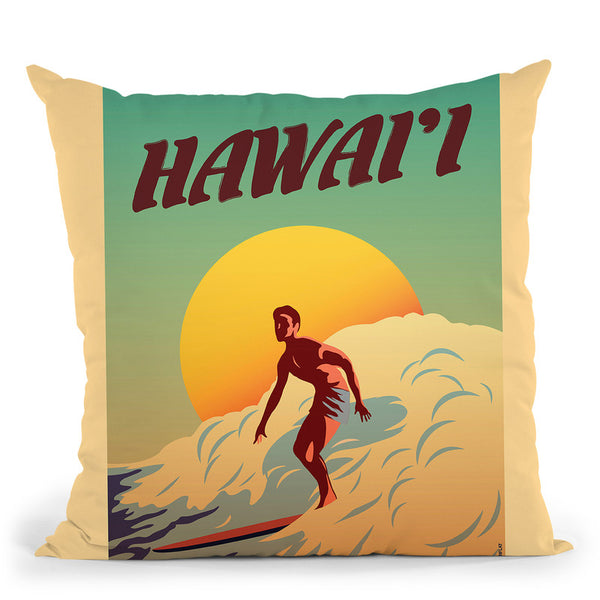 Hawaii Throw Pillow By American Flat - All About Vibe