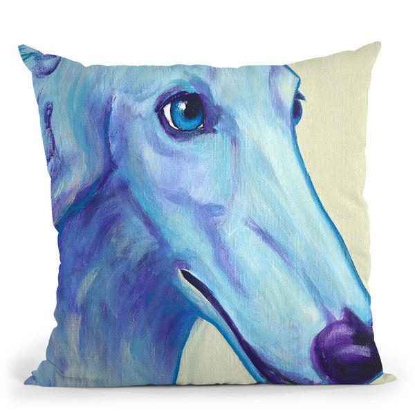 Baby Blue Borzoi Throw Pillow By Dawgart - All About Vibe