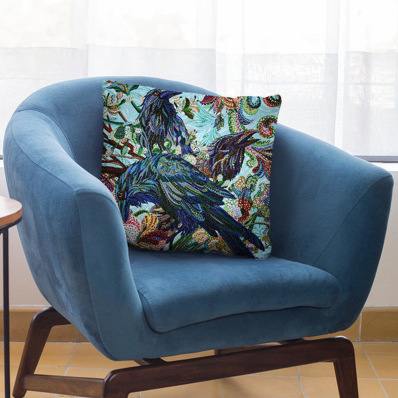 3 Birds Throw Pillow By Erika Pochybova - All About Vibe