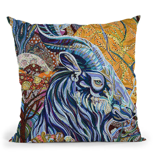 Full Moon Throw Pillow By Erika Pochybova - All About Vibe