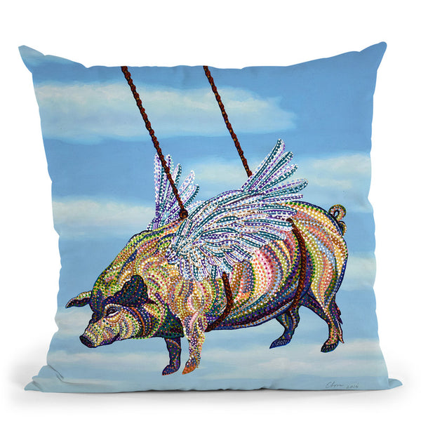 Pig Throw Pillow By Erika Pochybova - All About Vibe