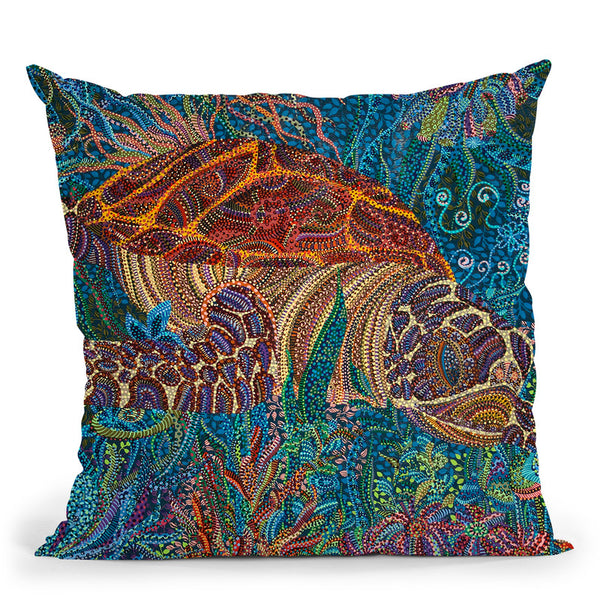 Turtle Throw Pillow By Erika Pochybova - All About Vibe