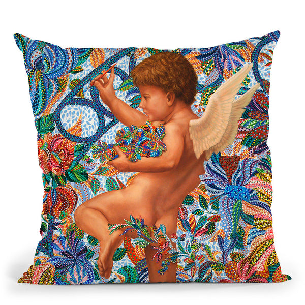 At The Gate Throw Pillow By Erika Pochybova - All About Vibe