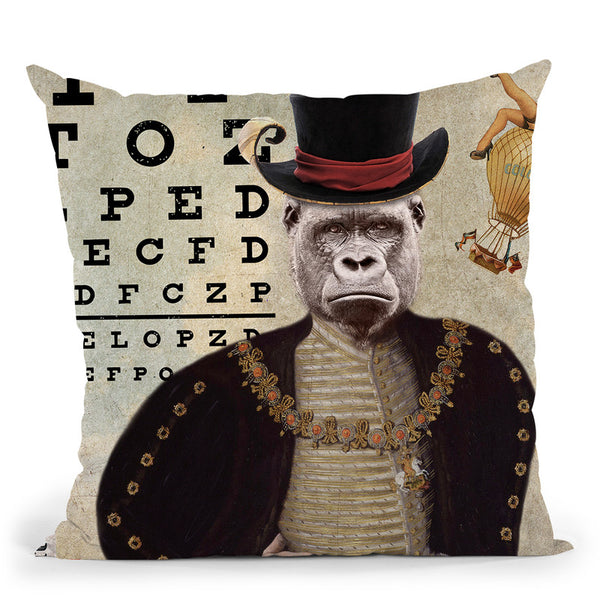 Gorilla Throw Pillow By Elo Marc - All About Vibe