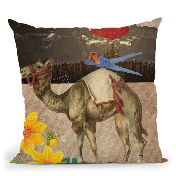 Desert Is A Lonely Place Throw Pillow By Elo Marc - All About Vibe