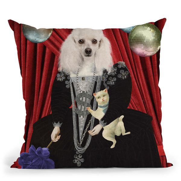 Jezebel Throw Pillow By Elo Marc - All About Vibe