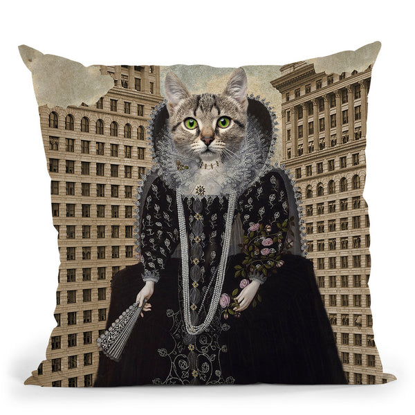 Lost In The City Throw Pillow By Elo Marc - All About Vibe