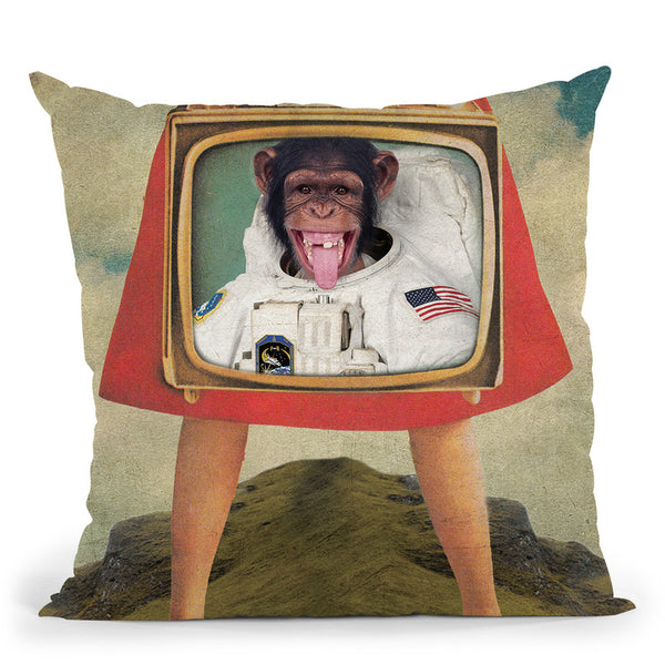 Monkey See Monkey Do Throw Pillow By Elo Marc - All About Vibe