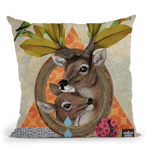Oh Deer Throw Pillow By Elo Marc - All About Vibe