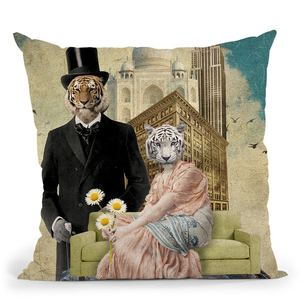The Eyes Of The Tiger Throw Pillow By Elo Marc - All About Vibe