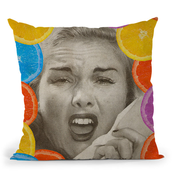 Citrus Muss Throw Pillow By Elo Marc - All About Vibe