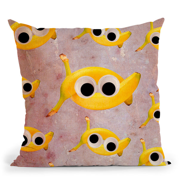 Goin' Bananas Throw Pillow By Elo Marc - All About Vibe