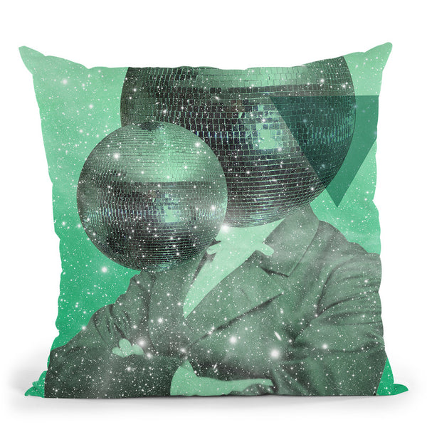 Green Universe Throw Pillow By Elo Marc - All About Vibe