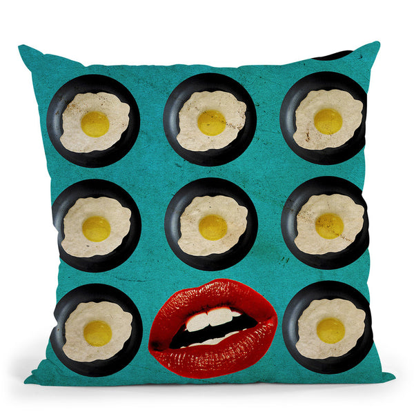 One Egg A Day Throw Pillow By Elo Marc - All About Vibe