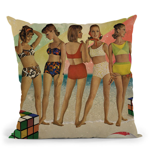 Beach Days Are Over Throw Pillow By Elo Marc - All About Vibe