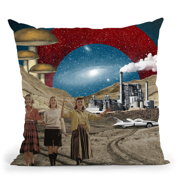 Uncertain Future Throw Pillow By Elo Marc - All About Vibe