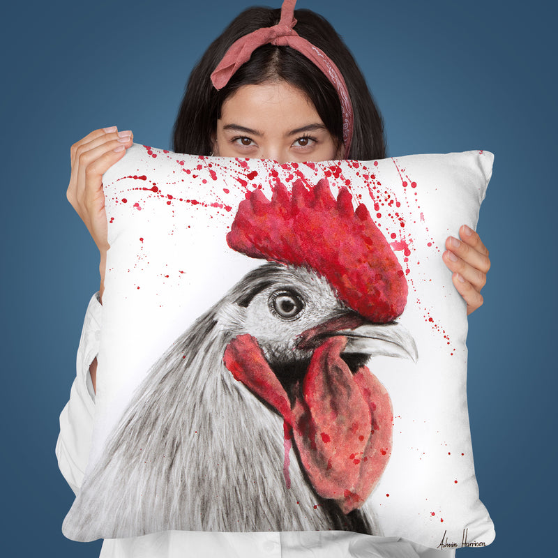 Rooster Throw Pillow By Ashvin Harrison