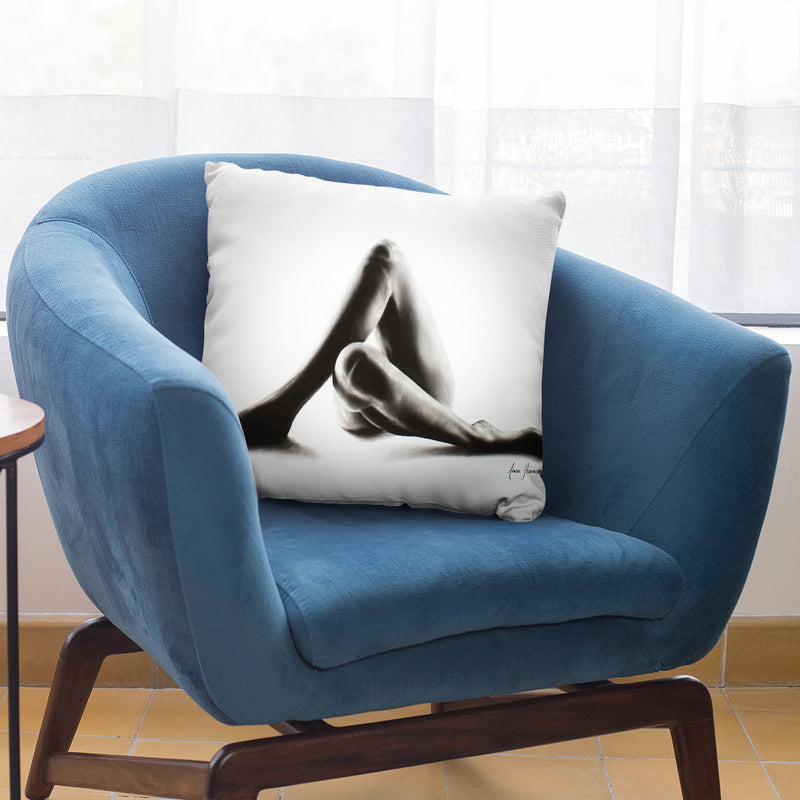 Nude Woman Charcoal Study 50 Throw Pillow By Ashvin Harrison