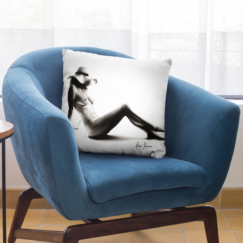 Nude Woman Charcoal Study 52 Throw Pillow By Ashvin Harrison