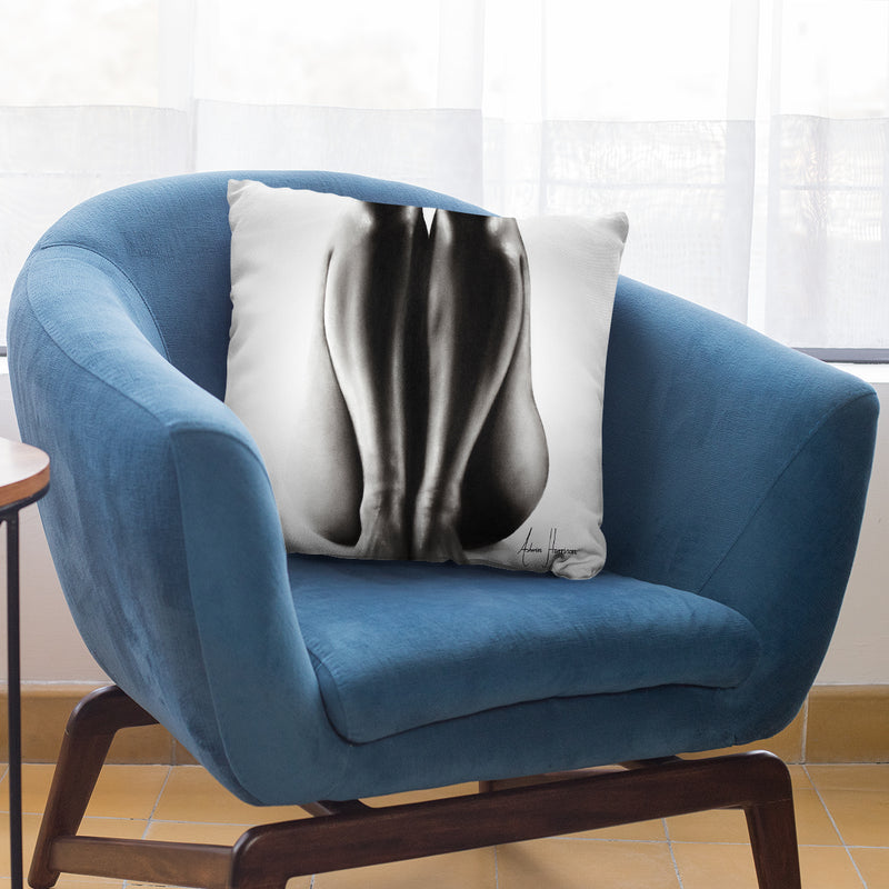 Nude Woman Charcoal Study 65 Throw Pillow By Ashvin Harrison