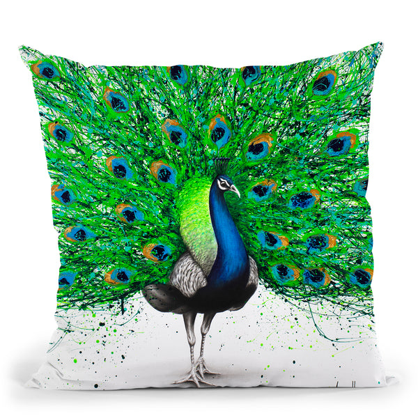 Pavo Pthalo Throw Pillow By Ashvin Harrison