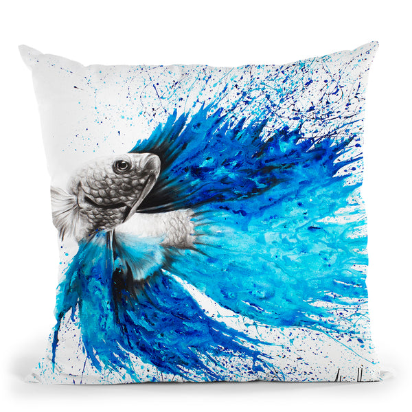Phthalo Fish Tail Throw Pillow By Ashvin Harrison