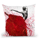 Red Opal Dance Ballet Throw Pillow By Ashvin Harrison