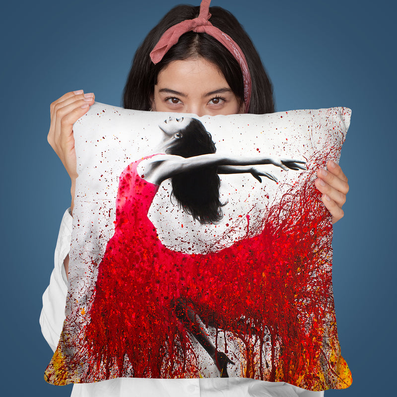 Rise Above The Flames Throw Pillow By Ashvin Harrison