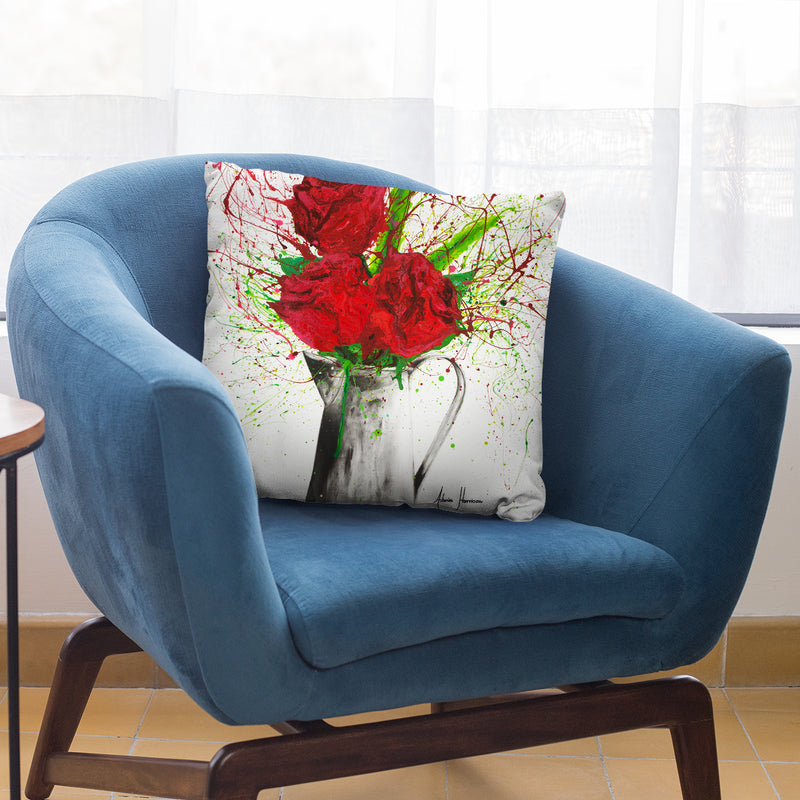 Scarlet Lovers Throw Pillow By Ashvin Harrison