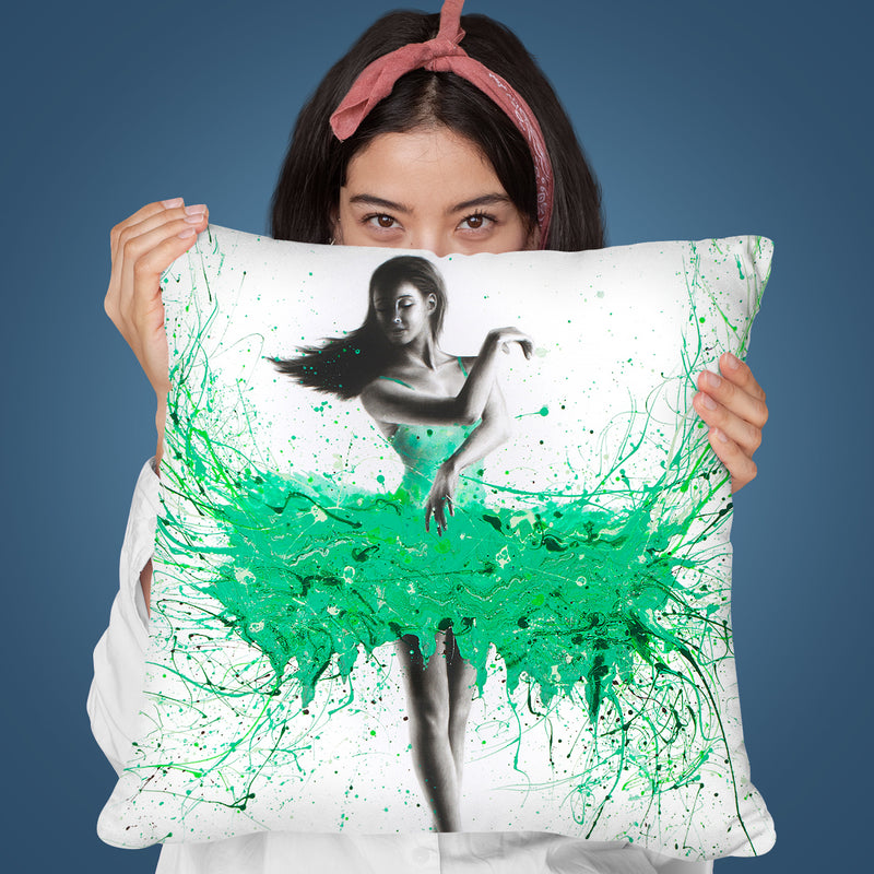 Southern Jade Ballerina Throw Pillow By Ashvin Harrison