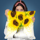 Sunflower Song Throw Pillow By Ashvin Harrison