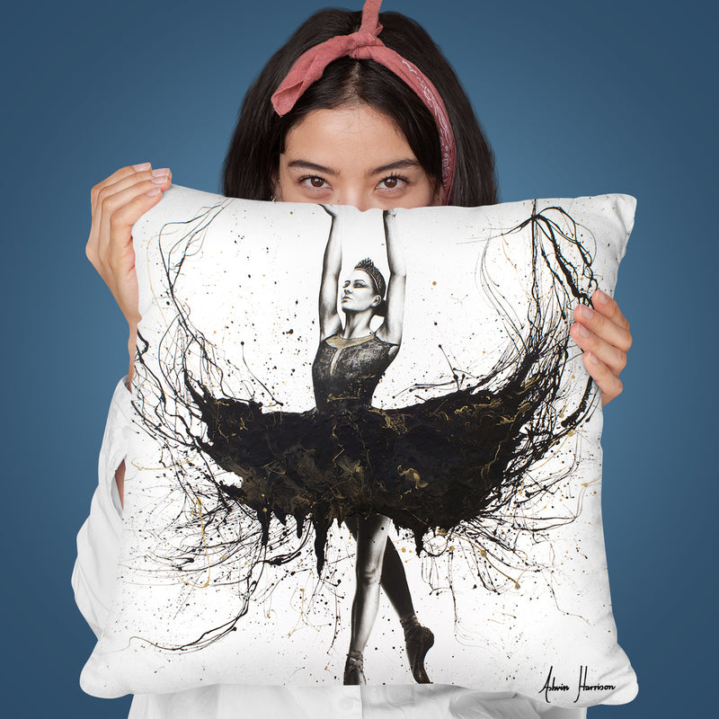 The Black Swan Throw Pillow By Ashvin Harrison