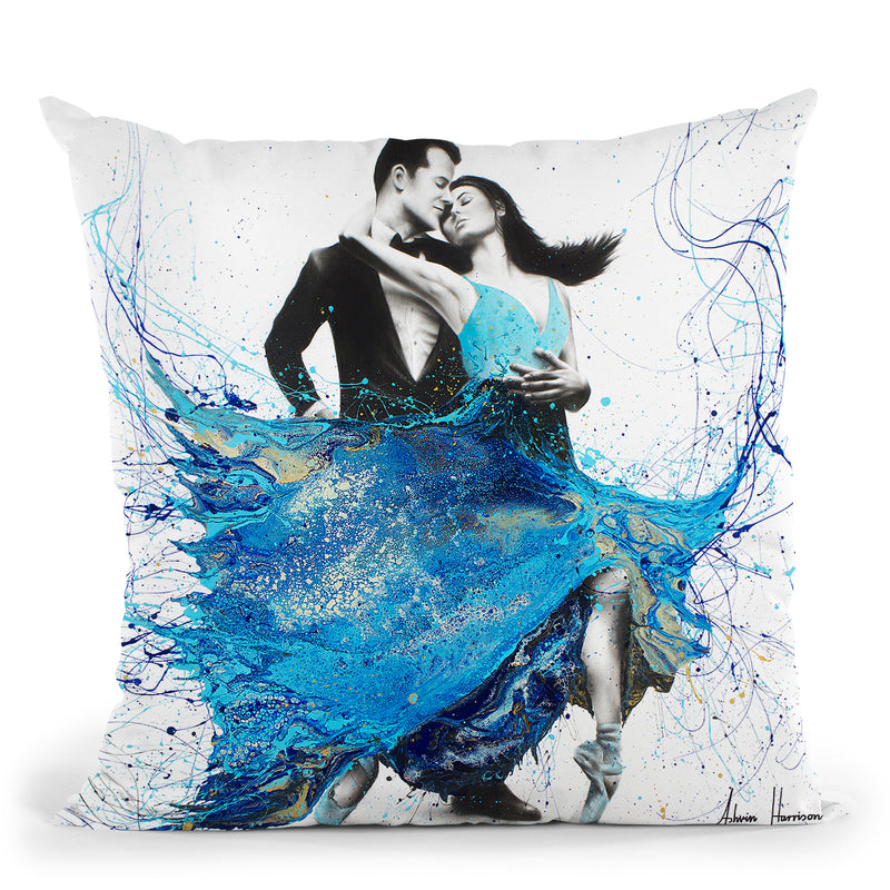 The First Dance Throw Pillow By Ashvin Harrison