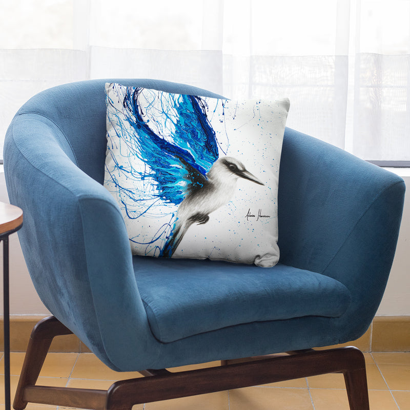 True Blue Throw Pillow By Ashvin Harrison