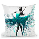 Turquoise Twist Throw Pillow By Ashvin Harrison