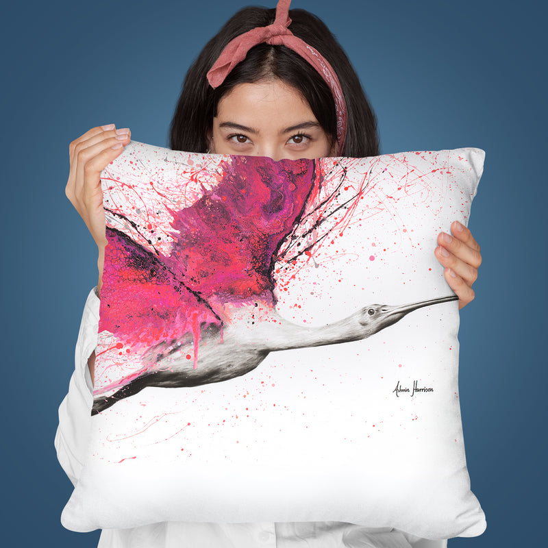 Bird Of The Pink Skies Throw Pillow By Ashvin Harrison