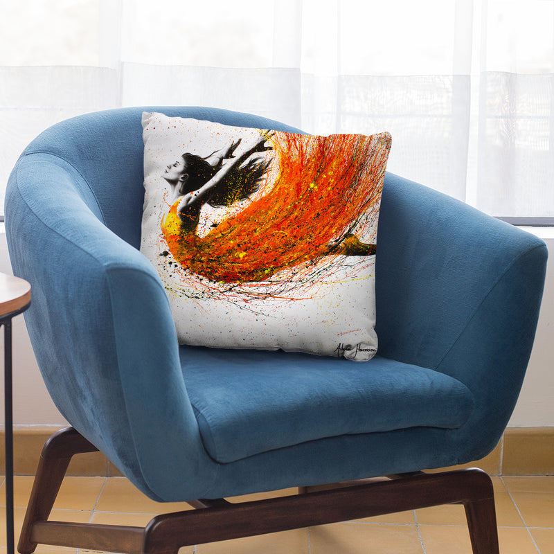 Night Fire Dance Throw Pillow By Ashvin Harrison