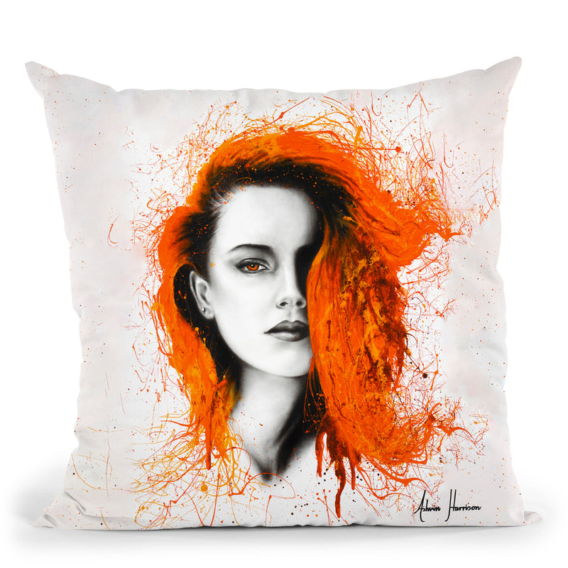 Heated Heart Throw Pillow By Ashvin Harrison