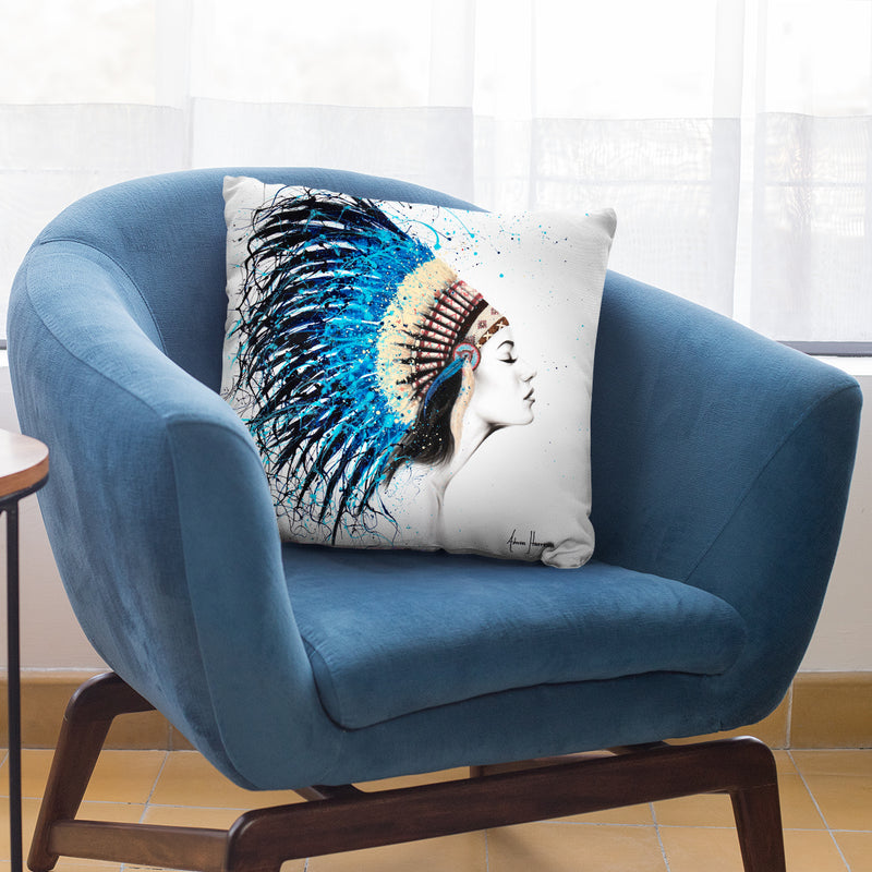 Her Feathers Throw Pillow By Ashvin Harrison