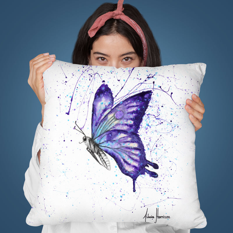 Lavender Butterfly Throw Pillow By Ashvin Harrison