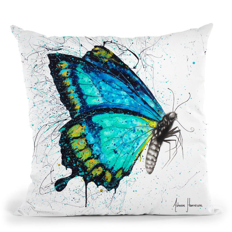 Morning Citrus Butterfly Throw Pillow By Ashvin Harrison