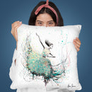 Opal Oasis Dance Throw Pillow By Ashvin Harrison
