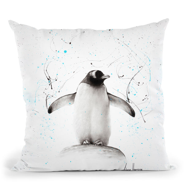 Penguin Parade Throw Pillow By Ashvin Harrison