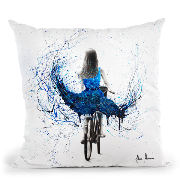 River Ride Throw Pillow By Ashvin Harrison