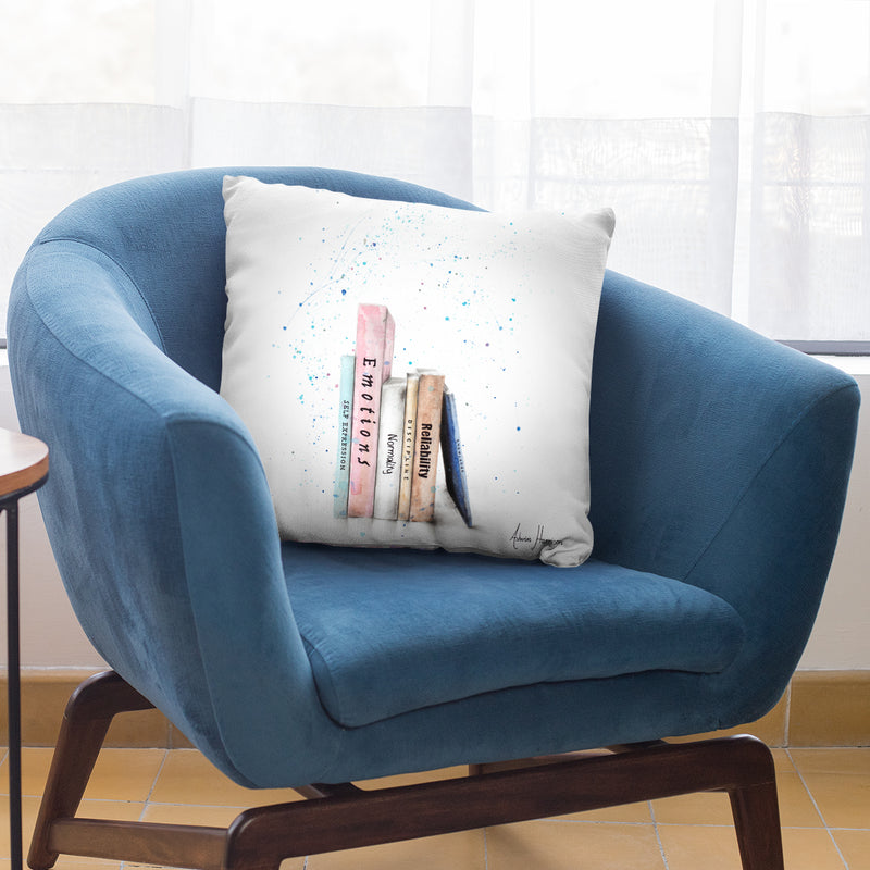 The Book Balance Throw Pillow By Ashvin Harrison