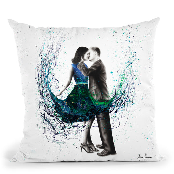 The First Kiss Throw Pillow By Ashvin Harrison
