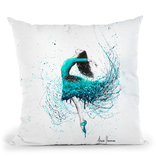Turquoise Ocean Dancer Throw Pillow By Ashvin Harrison