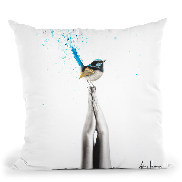 Two Hands To Peace Throw Pillow By Ashvin Harrison